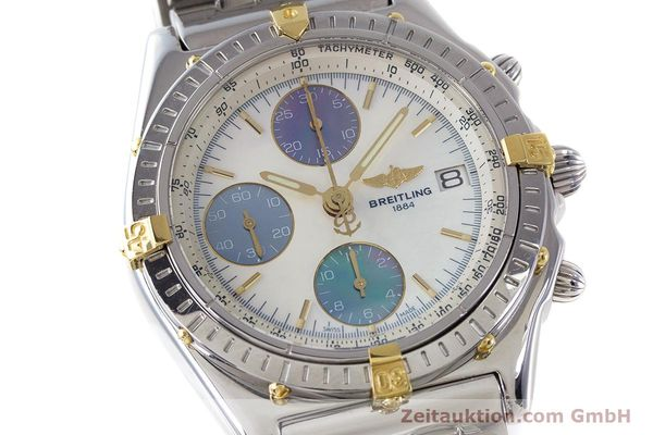 Used luxury watch Breitling Chronomat chronograph steel automatic Kal. B13 ETA 7750 Ref. D13050.1  | 161569 02