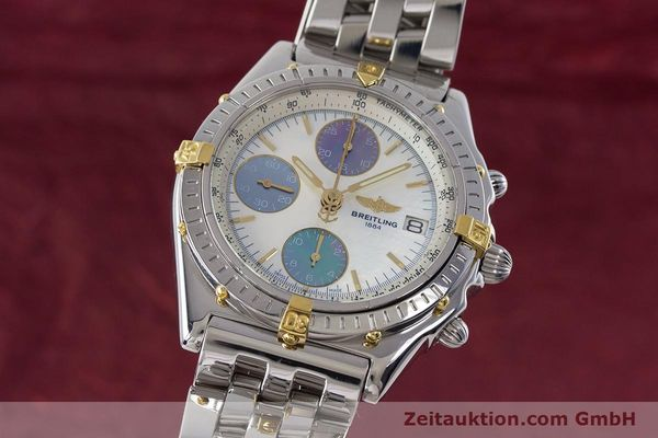 Used luxury watch Breitling Chronomat chronograph steel automatic Kal. B13 ETA 7750 Ref. D13050.1  | 161569 04