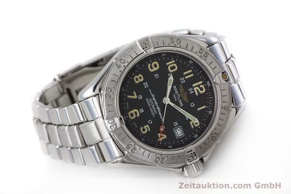 Used luxury watch Breitling Superocean steel automatic Kal. B17 ETA 2824-2 Ref. A17040  | 161571 03