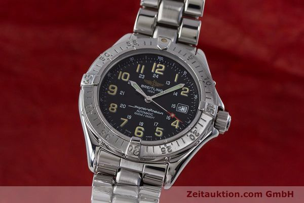 Used luxury watch Breitling Superocean steel automatic Kal. B17 ETA 2824-2 Ref. A17040  | 161571 04