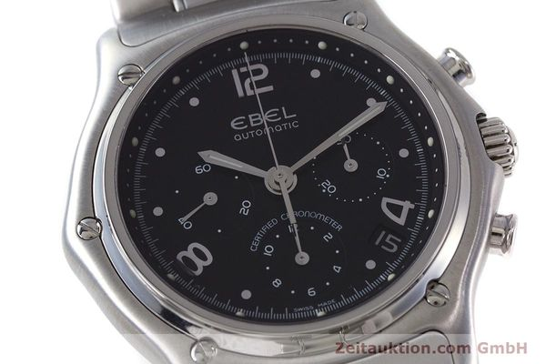 Used luxury watch Ebel 1911 chronograph steel automatic Kal. 137 Ref. E9137240  | 161574 02