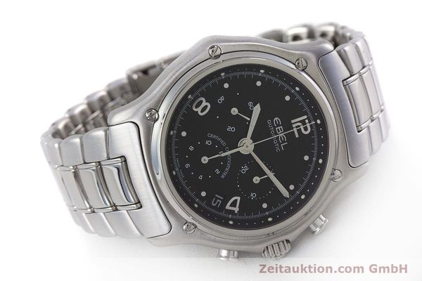 Used luxury watch Ebel 1911 chronograph steel automatic Kal. 137 Ref. E9137240  | 161574 03