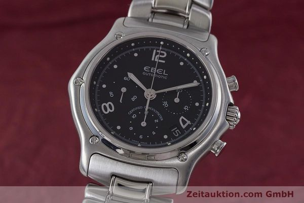 Used luxury watch Ebel 1911 chronograph steel automatic Kal. 137 Ref. E9137240  | 161574 04