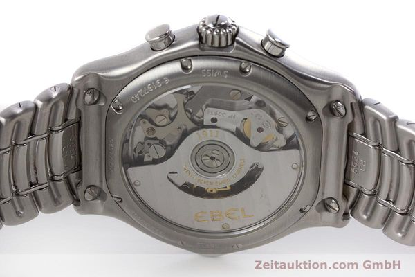 Used luxury watch Ebel 1911 chronograph steel automatic Kal. 137 Ref. E9137240  | 161574 09