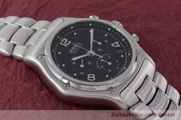 Used luxury watch Ebel 1911 chronograph steel automatic Kal. 137 Ref. E9137240  | 161574 13