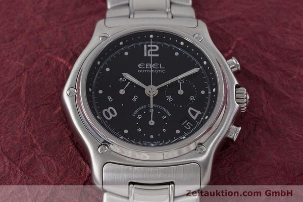Used luxury watch Ebel 1911 chronograph steel automatic Kal. 137 Ref. E9137240  | 161574 14
