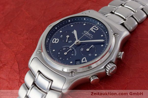Used luxury watch Ebel 1911 chronograph steel automatic Kal. 137 Ref. E9137240  | 161575 01
