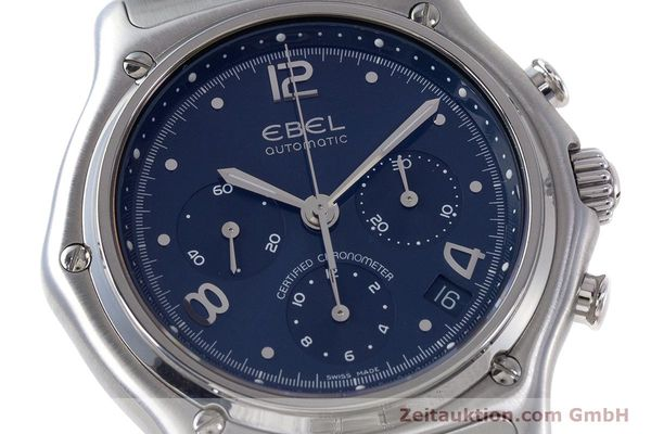 Used luxury watch Ebel 1911 chronograph steel automatic Kal. 137 Ref. E9137240  | 161575 02