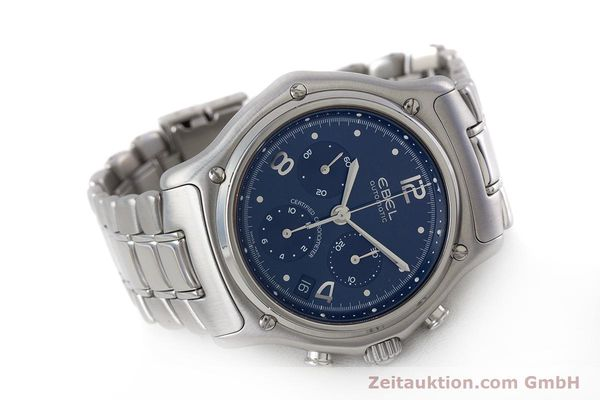 Used luxury watch Ebel 1911 chronograph steel automatic Kal. 137 Ref. E9137240  | 161575 03