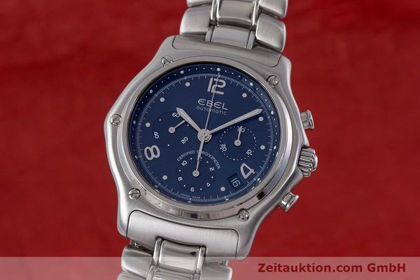 Used luxury watch Ebel 1911 chronograph steel automatic Kal. 137 Ref. E9137240  | 161575 04