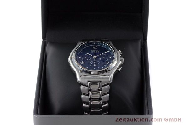 Used luxury watch Ebel 1911 chronograph steel automatic Kal. 137 Ref. E9137240  | 161575 07