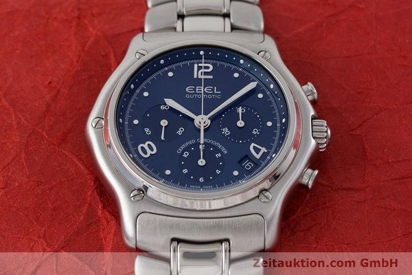 Used luxury watch Ebel 1911 chronograph steel automatic Kal. 137 Ref. E9137240  | 161575 15