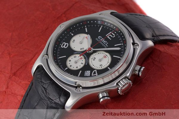 Used luxury watch Ebel 1911 chronograph steel automatic Kal. 137 Ref. E9137260  | 161577 01