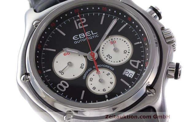 Used luxury watch Ebel 1911 chronograph steel automatic Kal. 137 Ref. E9137260  | 161577 02