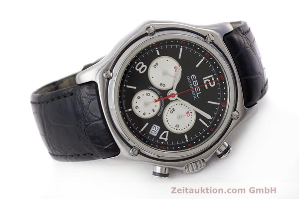 Used luxury watch Ebel 1911 chronograph steel automatic Kal. 137 Ref. E9137260  | 161577 03