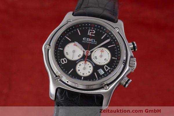 Used luxury watch Ebel 1911 chronograph steel automatic Kal. 137 Ref. E9137260  | 161577 04