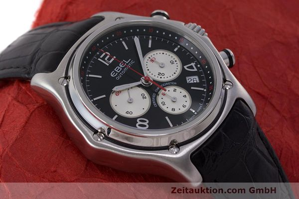 Used luxury watch Ebel 1911 chronograph steel automatic Kal. 137 Ref. E9137260  | 161577 14
