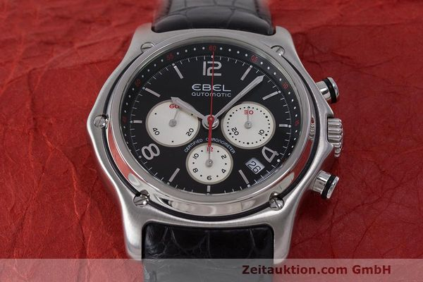 Used luxury watch Ebel 1911 chronograph steel automatic Kal. 137 Ref. E9137260  | 161577 15