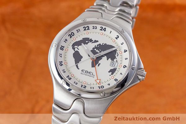 Used luxury watch Ebel Sportwave steel automatic Kal. E123 ETA 2893-2 Ref. E9123K51  | 161579 04