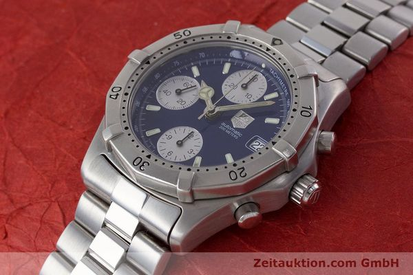 Used luxury watch Tag Heuer Professional chronograph steel automatic Kal. ETA 7750 Ref. CK2111  | 161582 01