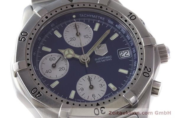 Used luxury watch Tag Heuer Professional chronograph steel automatic Kal. ETA 7750 Ref. CK2111  | 161582 02