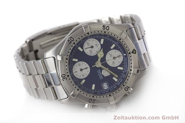 Used luxury watch Tag Heuer Professional chronograph steel automatic Kal. ETA 7750 Ref. CK2111  | 161582 03