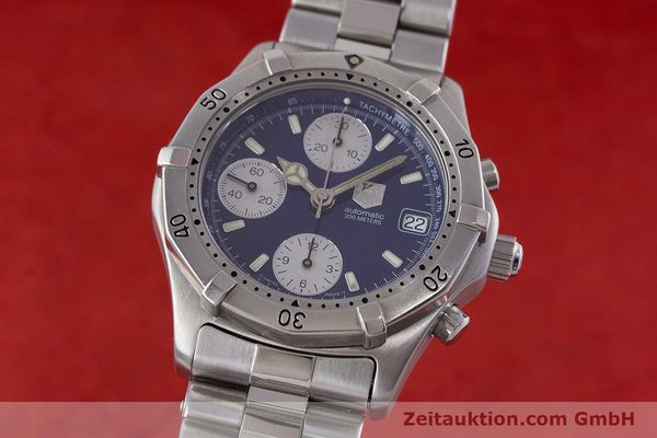 Used luxury watch Tag Heuer Professional chronograph steel automatic Kal. ETA 7750 Ref. CK2111  | 161582 04