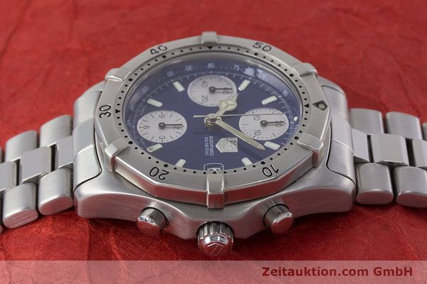 Used luxury watch Tag Heuer Professional chronograph steel automatic Kal. ETA 7750 Ref. CK2111  | 161582 05
