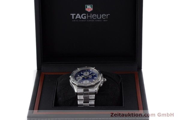Used luxury watch Tag Heuer Professional chronograph steel automatic Kal. ETA 7750 Ref. CK2111  | 161582 07