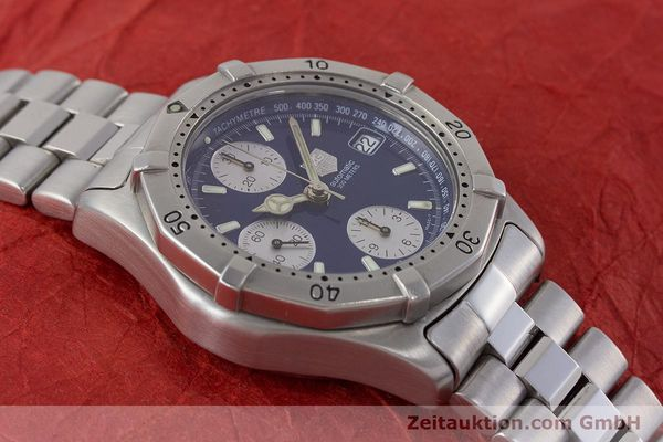 Used luxury watch Tag Heuer Professional chronograph steel automatic Kal. ETA 7750 Ref. CK2111  | 161582 14