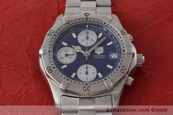 Used luxury watch Tag Heuer Professional chronograph steel automatic Kal. ETA 7750 Ref. CK2111  | 161582 15
