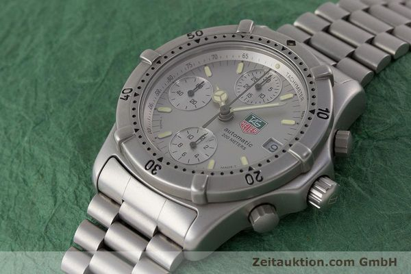 Used luxury watch Tag Heuer Professional chronograph steel automatic Kal. 4.90 Valj. 7750 Ref. 760.306  | 161583 01
