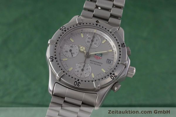 Used luxury watch Tag Heuer Professional chronograph steel automatic Kal. 4.90 Valj. 7750 Ref. 760.306  | 161583 04