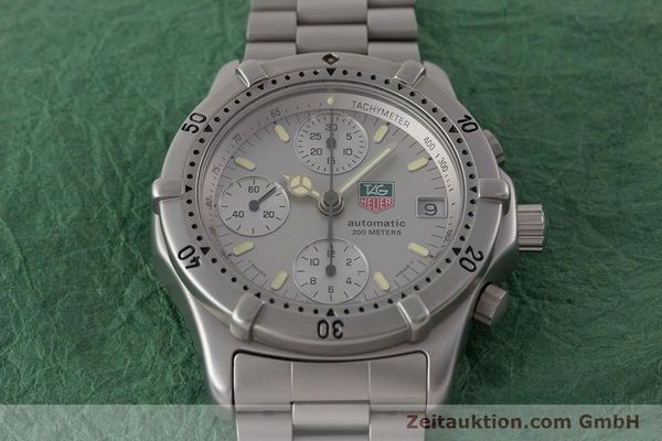 Used luxury watch Tag Heuer Professional chronograph steel automatic Kal. 4.90 Valj. 7750 Ref. 760.306  | 161583 15