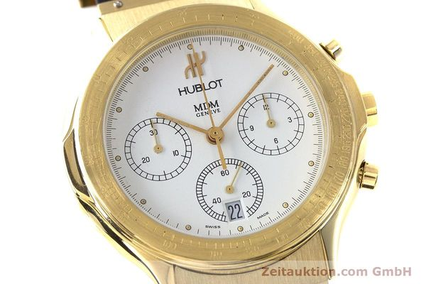 Used luxury watch Hublot MDM chronograph 18 ct gold quartz Kal. 1270  | 161589 02
