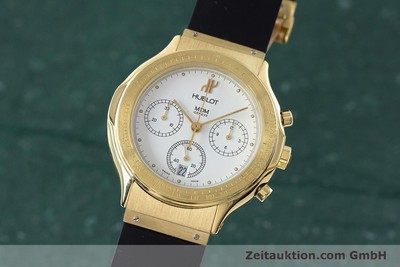 HUBLOT MDM CHRONOGRAPH 18 CT GOLD QUARTZ KAL. 1270 LP: 26900EUR [161589]