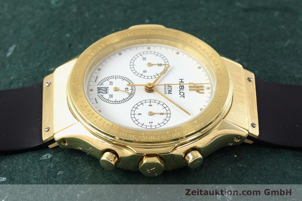 Used luxury watch Hublot MDM chronograph 18 ct gold quartz Kal. 1270  | 161589 05