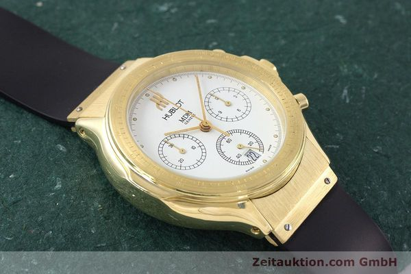Used luxury watch Hublot MDM chronograph 18 ct gold quartz Kal. 1270  | 161589 13
