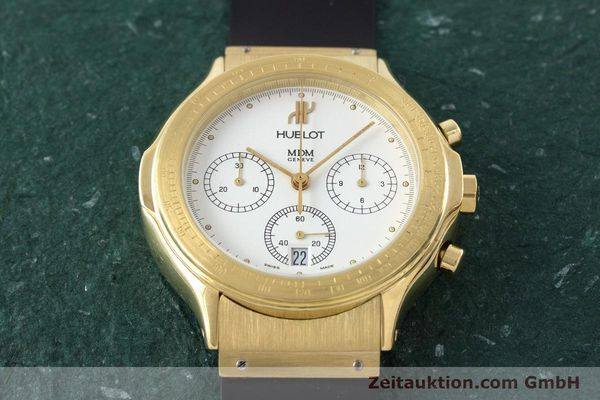 Used luxury watch Hublot MDM chronograph 18 ct gold quartz Kal. 1270  | 161589 14
