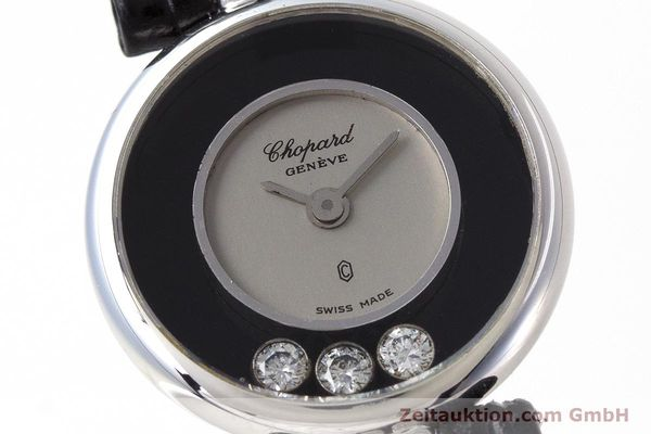 reloj de lujo usados Chopard Happy Diamonds oro blanco de 18 quilates cuarzo Kal. ETA 101.001 Ref. 4048  | 161590 02