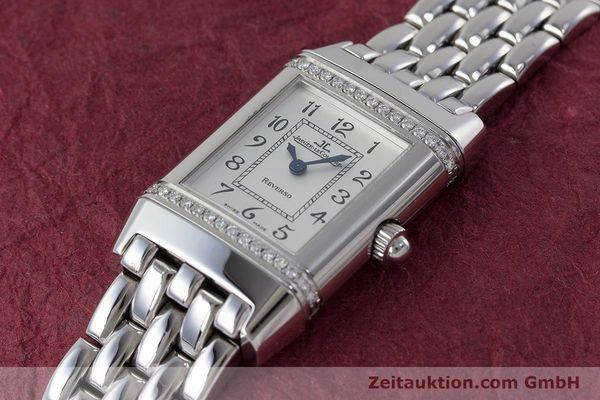 Used luxury watch Jaeger Le Coultre Reverso steel quartz Kal. 608 Ref. 265.8.08  | 161598 01