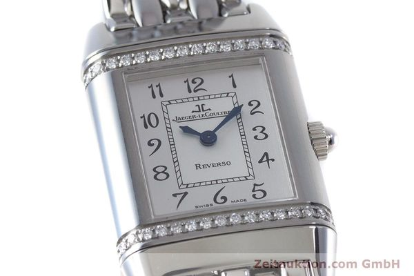 Used luxury watch Jaeger Le Coultre Reverso steel quartz Kal. 608 Ref. 265.8.08  | 161598 02