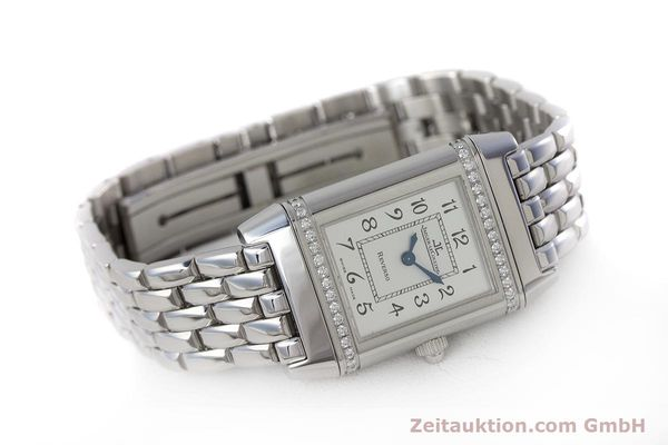 Used luxury watch Jaeger Le Coultre Reverso steel quartz Kal. 608 Ref. 265.8.08  | 161598 03