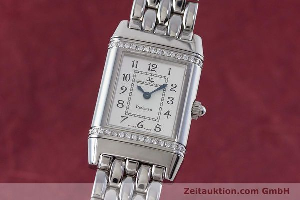Used luxury watch Jaeger Le Coultre Reverso steel quartz Kal. 608 Ref. 265.8.08  | 161598 04