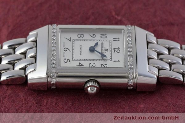 Used luxury watch Jaeger Le Coultre Reverso steel quartz Kal. 608 Ref. 265.8.08  | 161598 05
