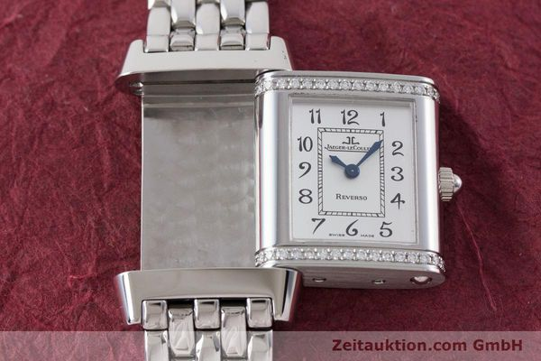 Used luxury watch Jaeger Le Coultre Reverso steel quartz Kal. 608 Ref. 265.8.08  | 161598 13