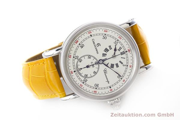 Used luxury watch Chronoswiss Chronoscope chronograph steel automatic Kal. 125 Ref. CH1523  | 161599 03