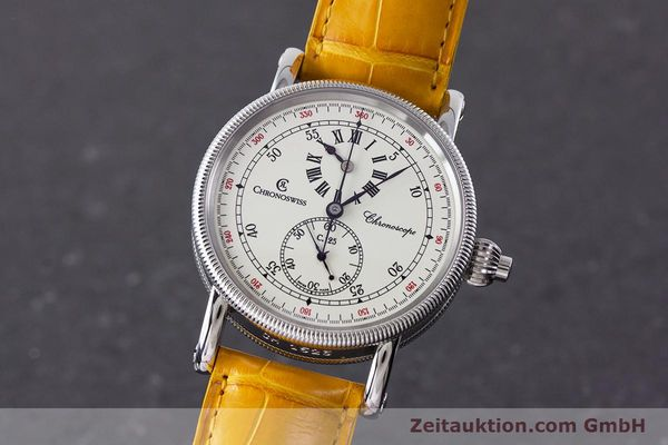 CHRONOSWISS CHRONOSCOPE CHRONOGRAPHE ACIER AUTOMATIQUE KAL. 125 LP: 5800EUR [161599]
