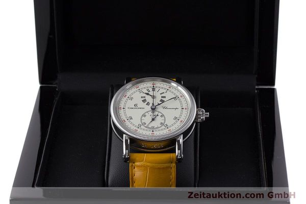 Used luxury watch Chronoswiss Chronoscope chronograph steel automatic Kal. 125 Ref. CH1523  | 161599 07