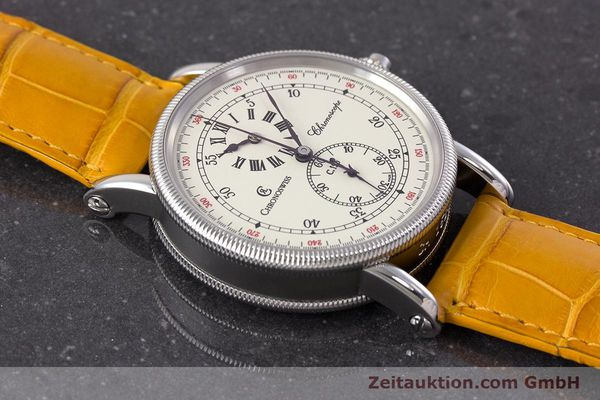 Used luxury watch Chronoswiss Chronoscope chronograph steel automatic Kal. 125 Ref. CH1523  | 161599 15